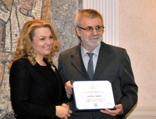 """Scientist of the Year 2013 in Montenegro"" award presented to Živko Andrić"